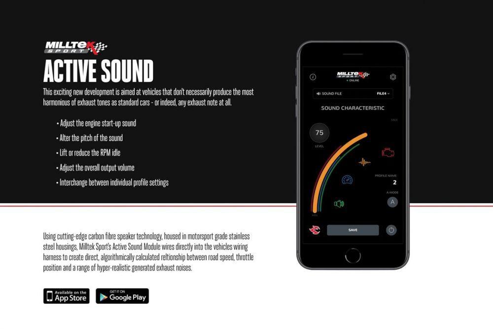 Milltek Active sound Control - Soundgenerator single og double